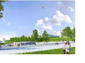 Tak będzie wyglądał teren Podzamcza z nowym amfiteatrem Fot.: UM Sochaczew
