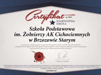 II - Szkoła w polskim rankingu- Certyfikat